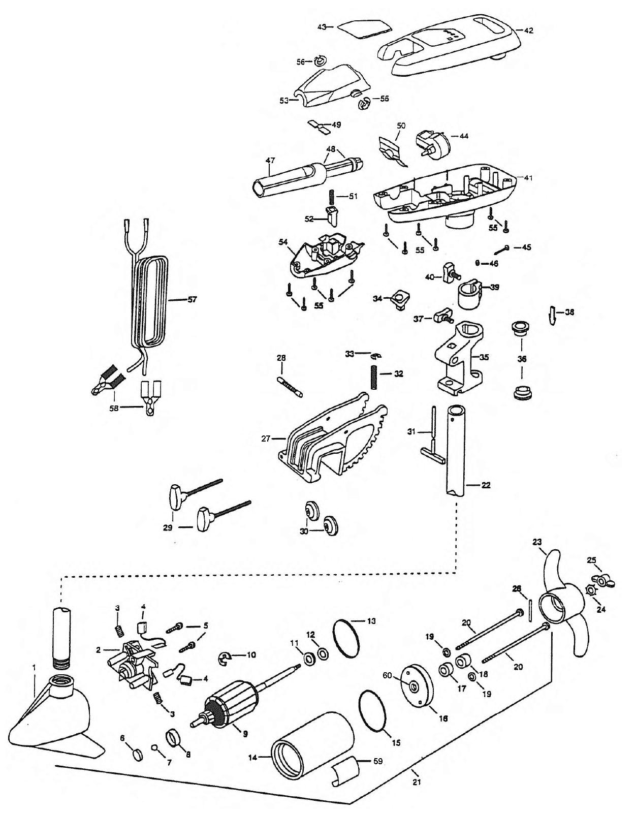 minn kota turbo 40 parts 1998 from fish307 com
