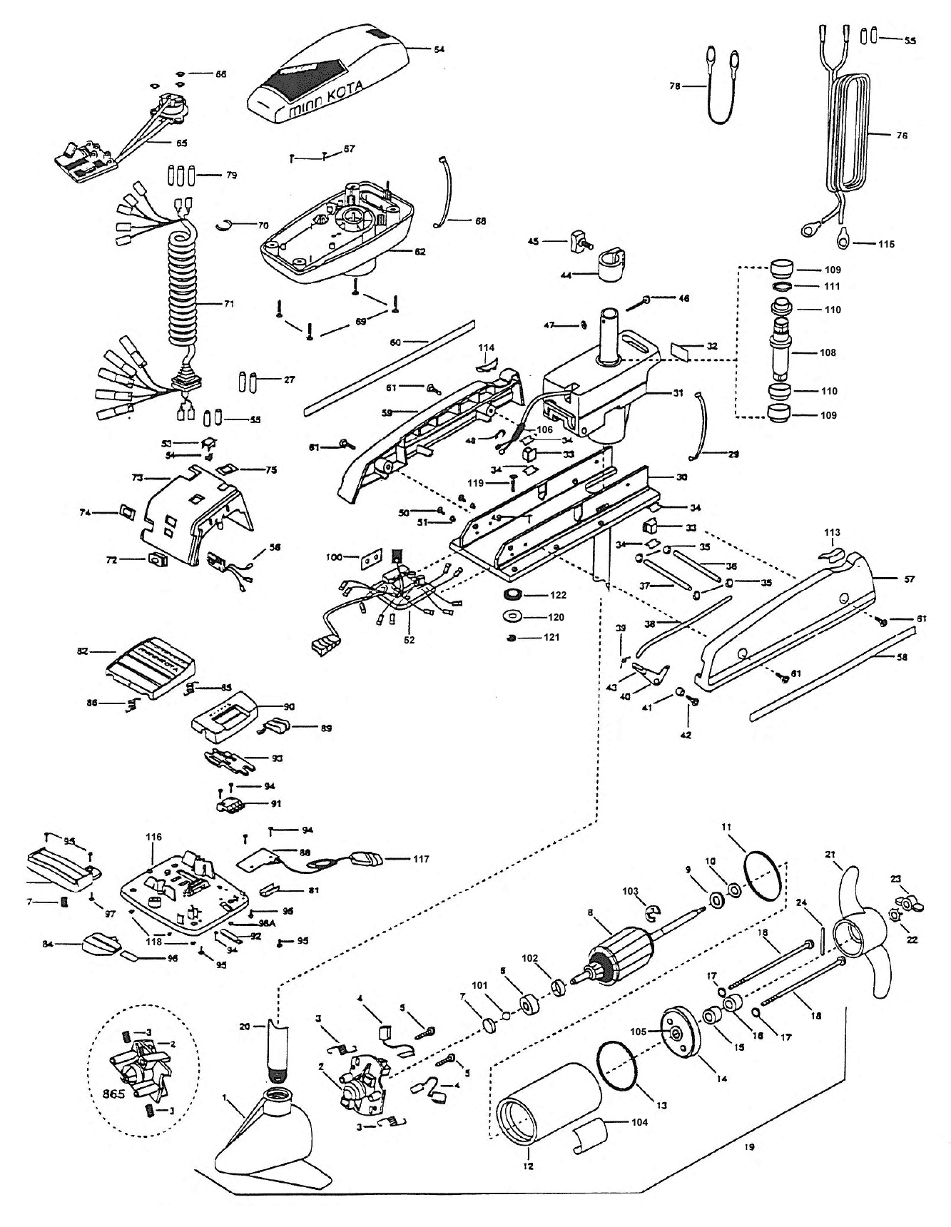 Minn Kota Auto Pilot 824 Parts
