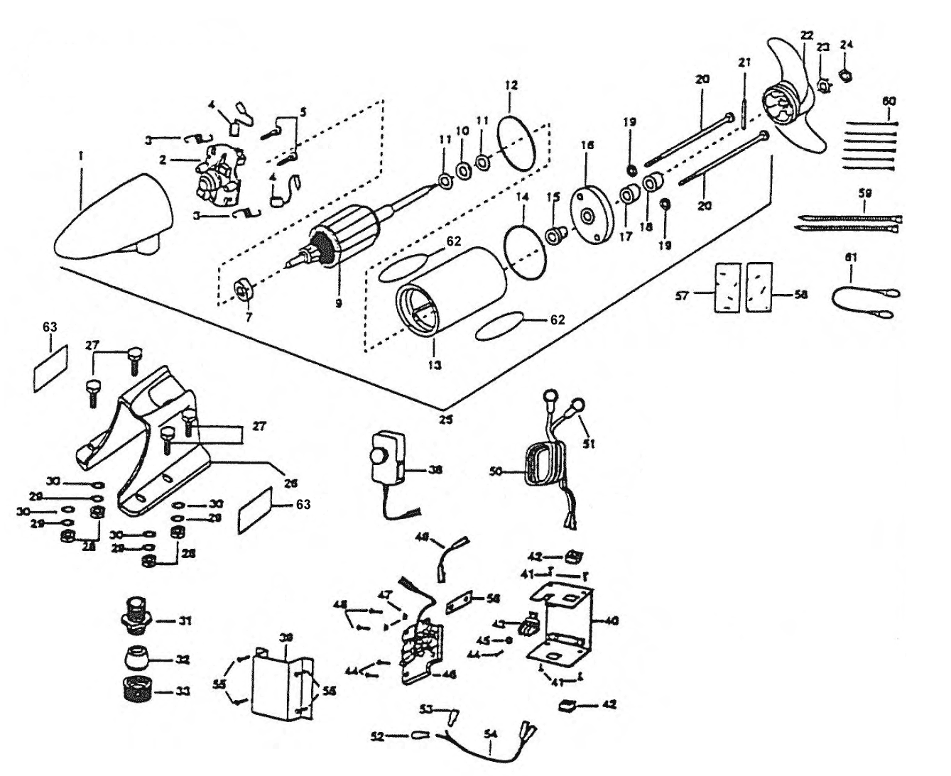 minn kota engine mount em48 parts