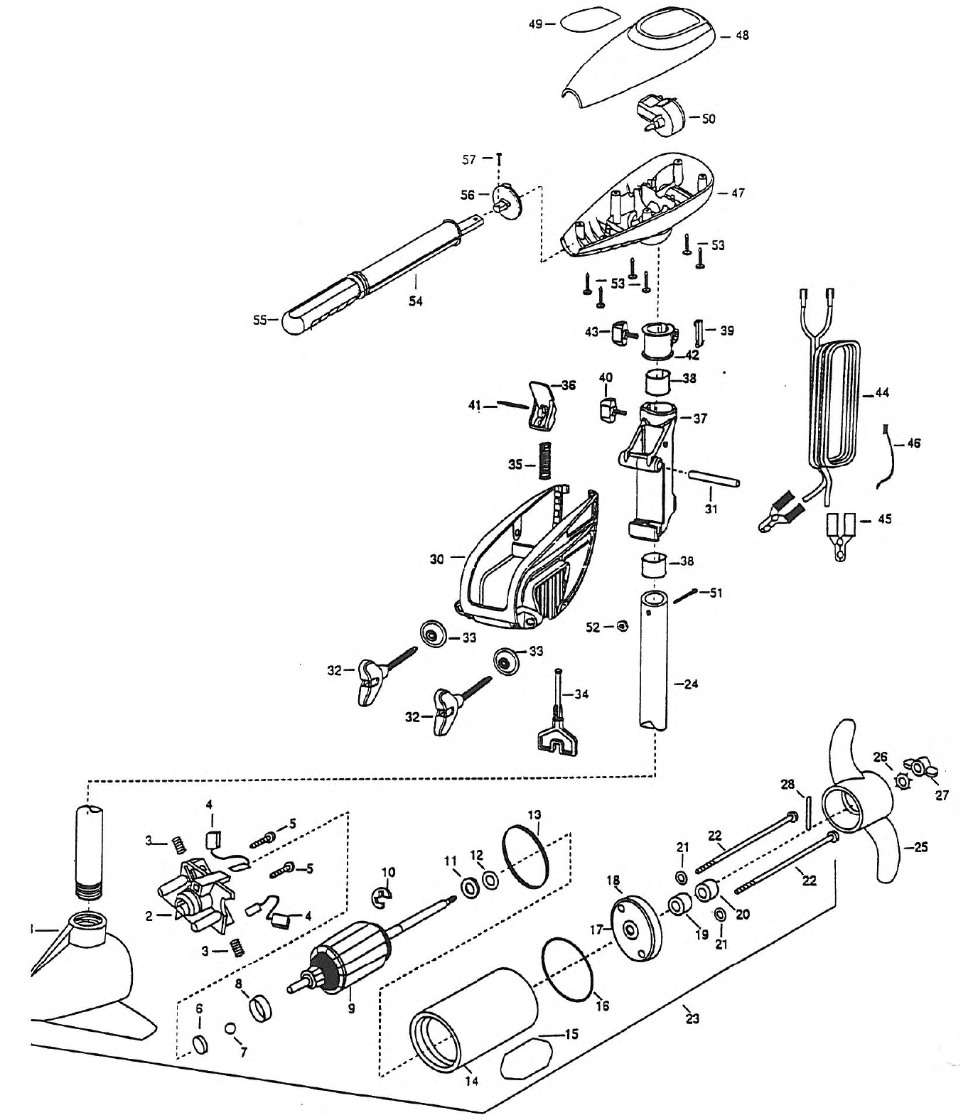 minn kota endura 36 parts 1998 from. Black Bedroom Furniture Sets. Home Design Ideas