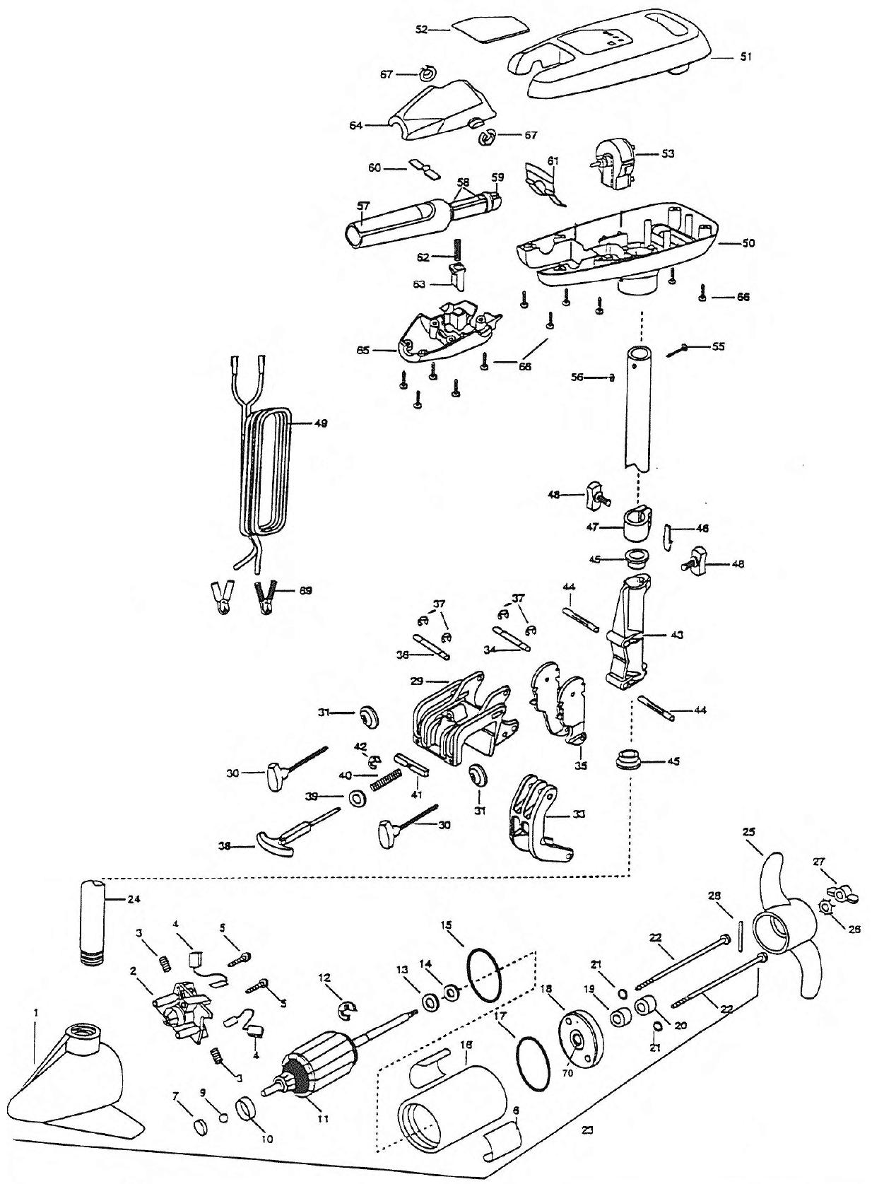 minn kota riptide 27s parts 1998 from. Black Bedroom Furniture Sets. Home Design Ideas