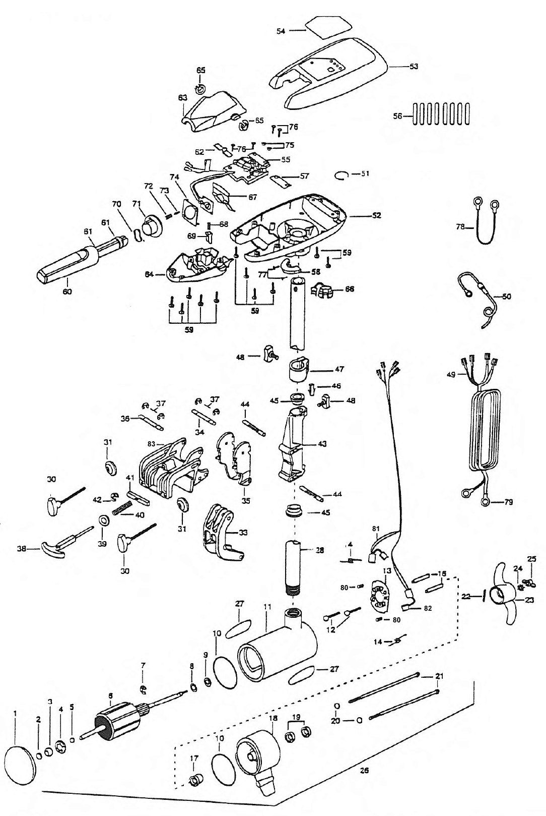 minn kota riptide 55s parts 1998 from. Black Bedroom Furniture Sets. Home Design Ideas