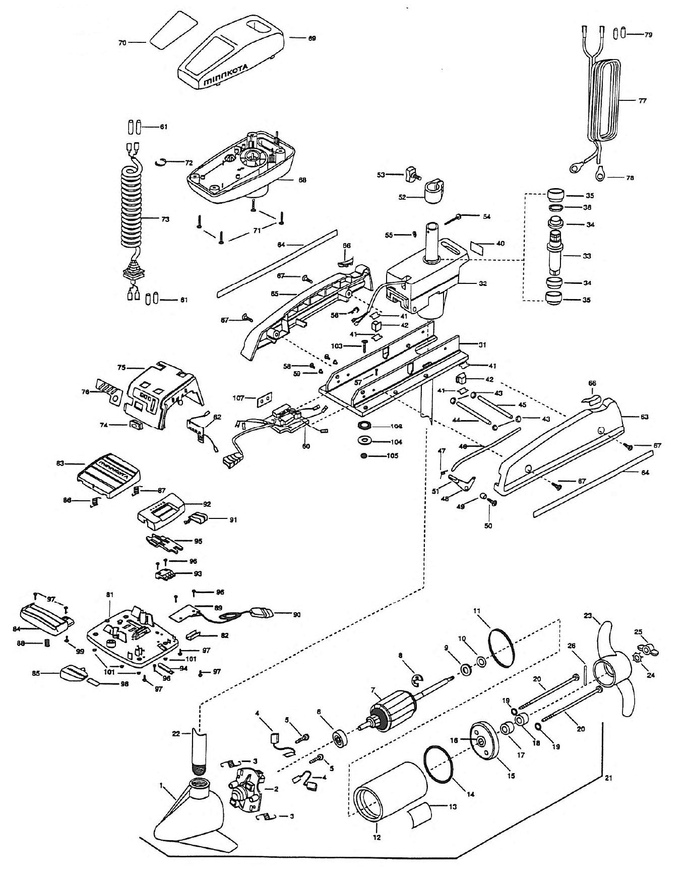 Minn Kota Wiring Diagram 50 Pd Trusted Diagrams Terrova Powerdrive 48 Inch Parts 1999 From Fish307 Com