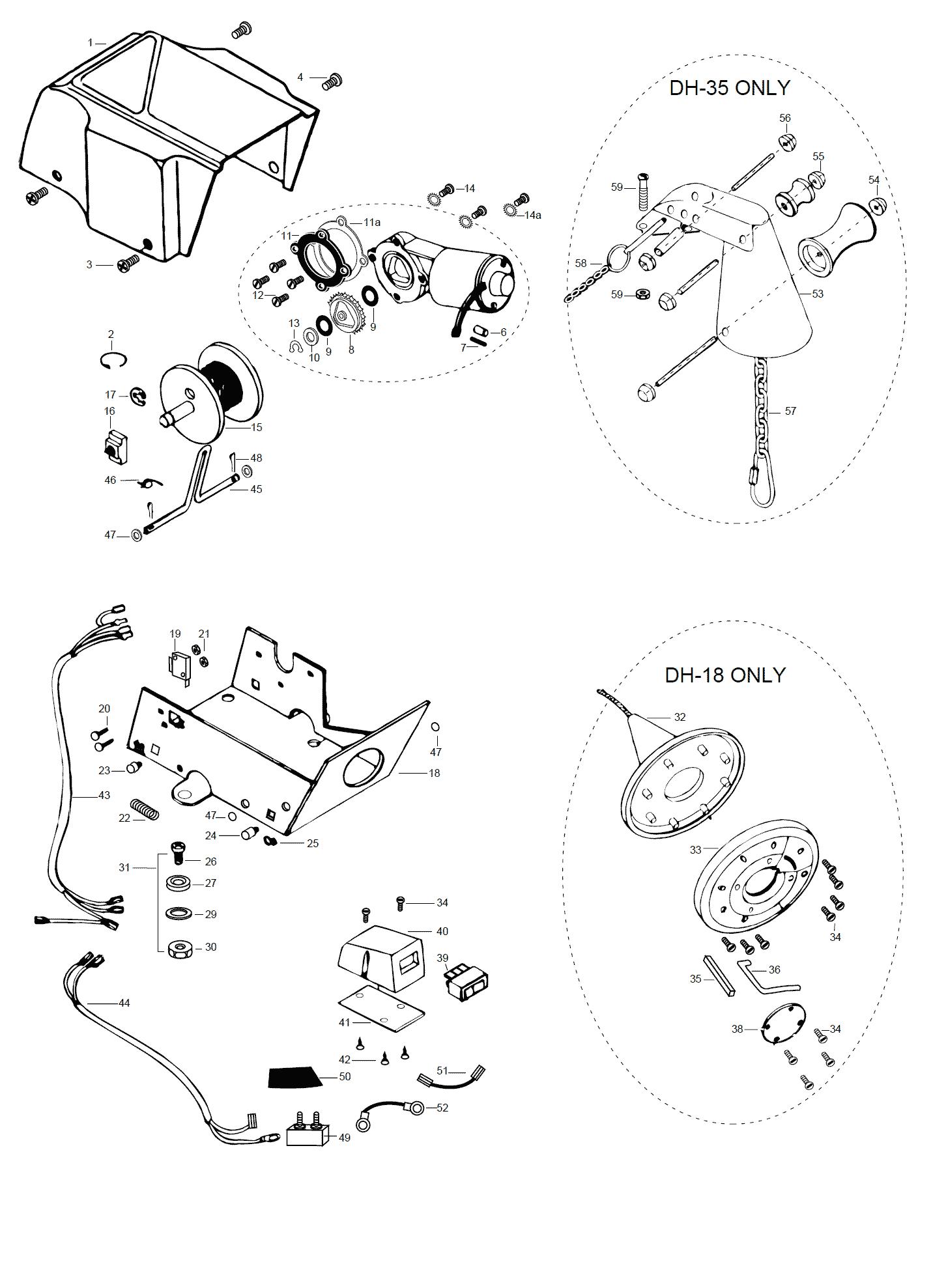 Minn Kota DeckHand 35 Parts - 1999 from