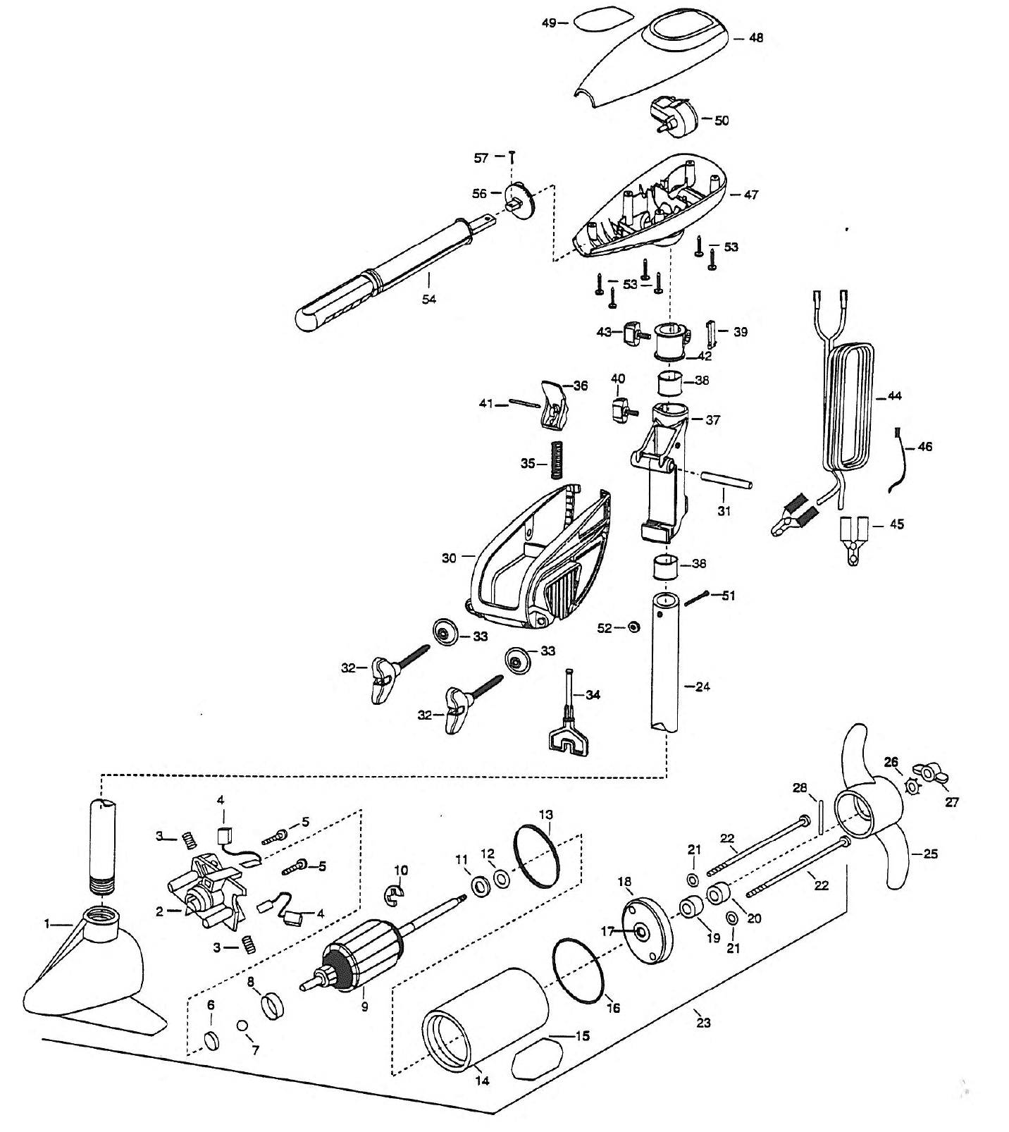 Wiring Diagram For Minn Kota Trolling Motors 44 Motor Battery 1999 Mk Endura30 Endura 30 Parts From Fish307 Com