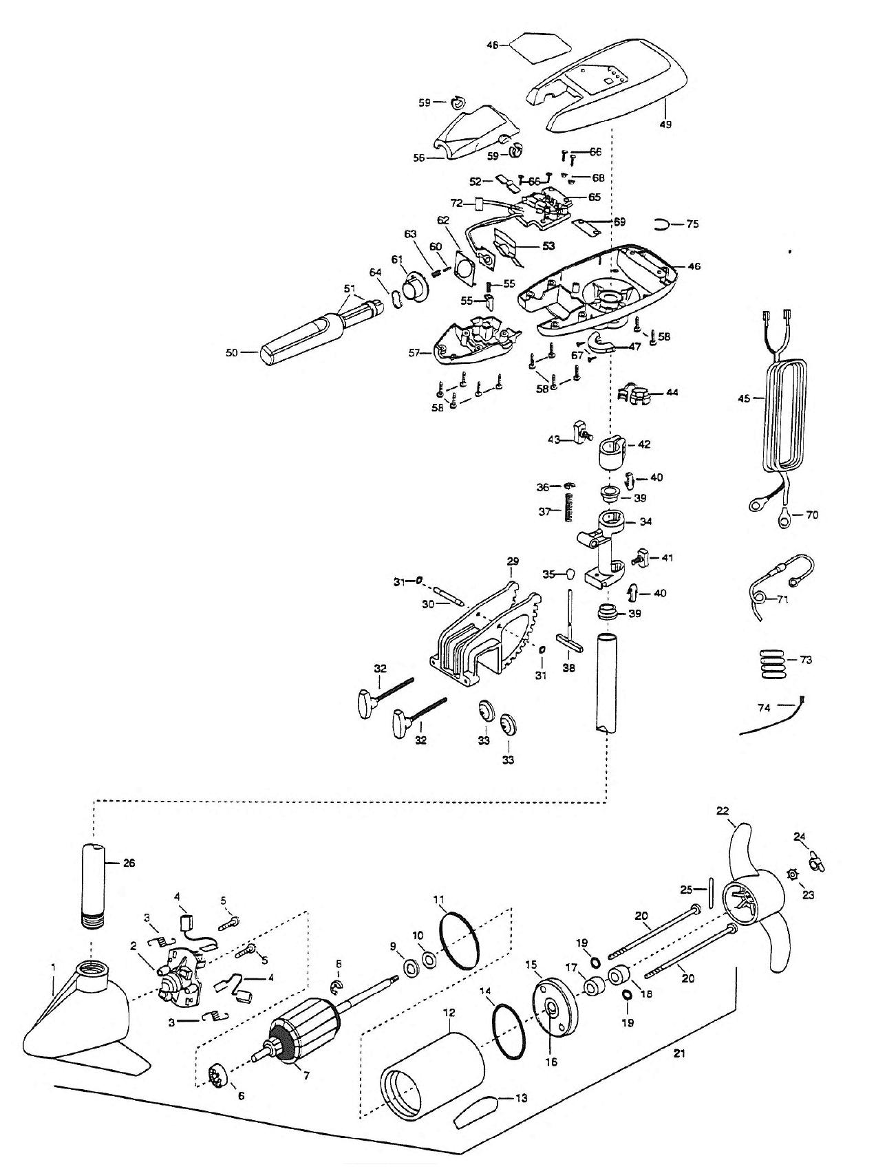minn kota riptide 42s parts 1999 from fish307