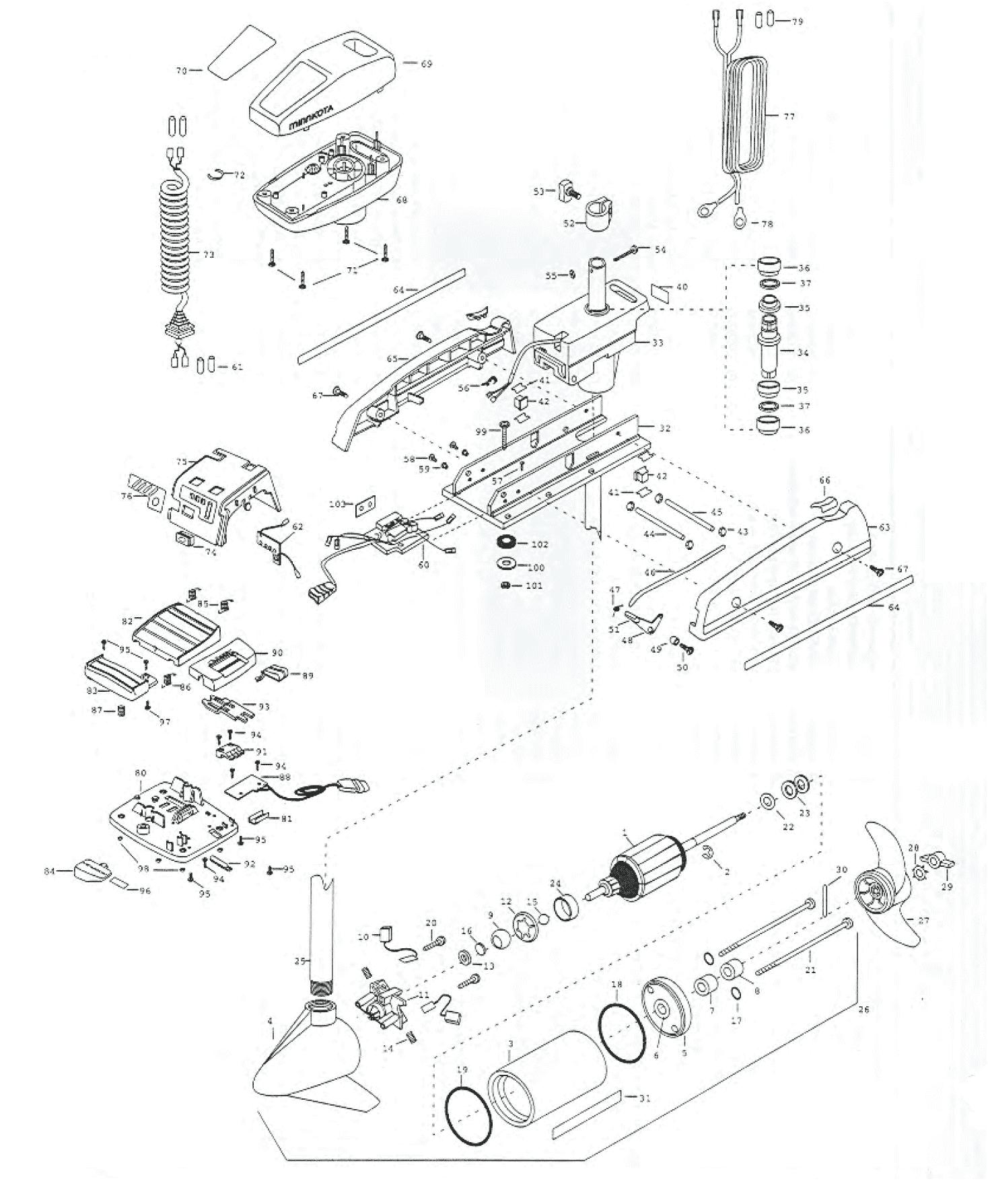 minn kota powerdrive 38 pro parts
