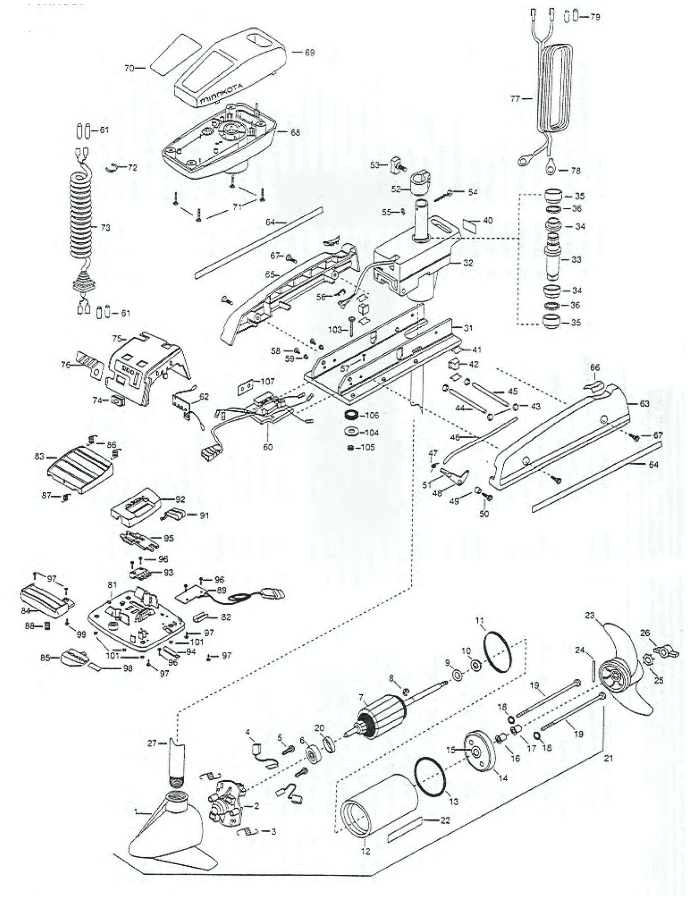 Minn Kota Trolling Motor Circuit Board Parts Motor Replacement Parts