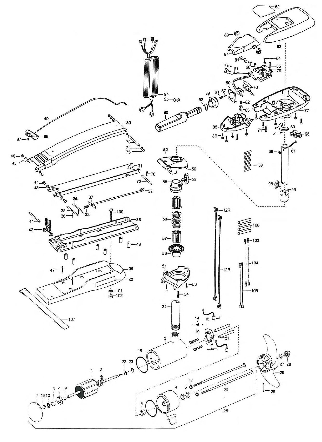 minn kota riptide 74 bowguard parts