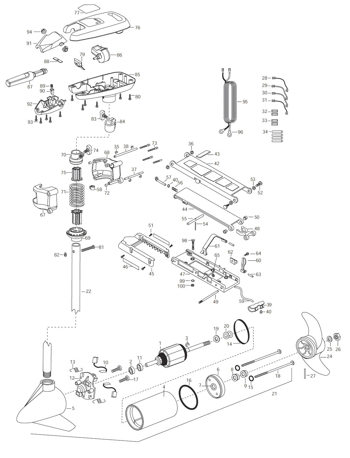 minn kota all terrain 55 hand control parts 2003 from. Black Bedroom Furniture Sets. Home Design Ideas