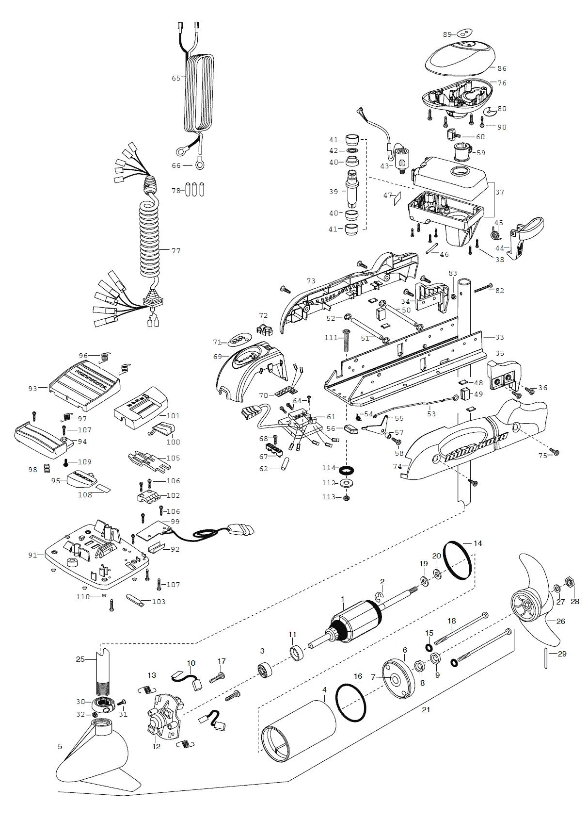 2003_MK_PowerDrive64pontoon Minn Kota Parts Schematic on honda parts schematic, minn kota trolling motor schematic, yamaha parts schematic, remington parts schematic, zebco parts schematic, suzuki parts schematic, minn kota endura schematic,