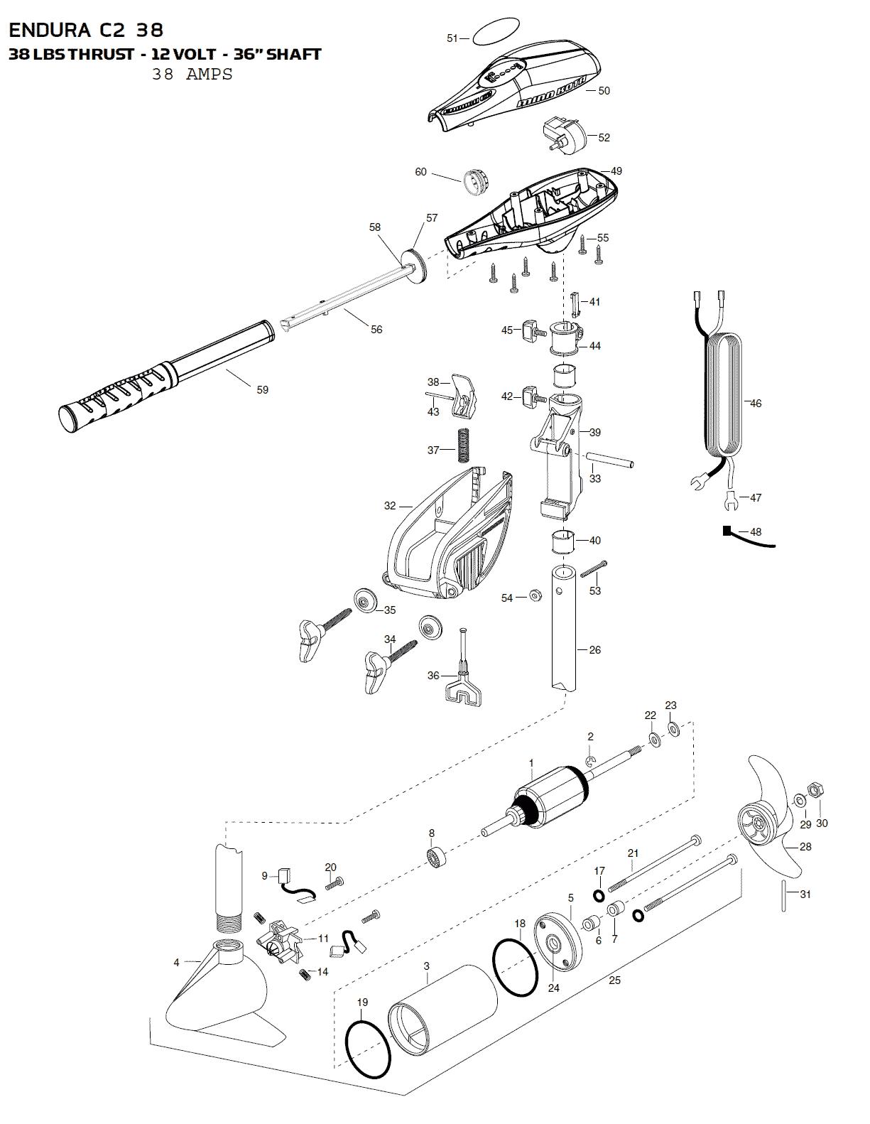 minn kota endura c2 38 parts