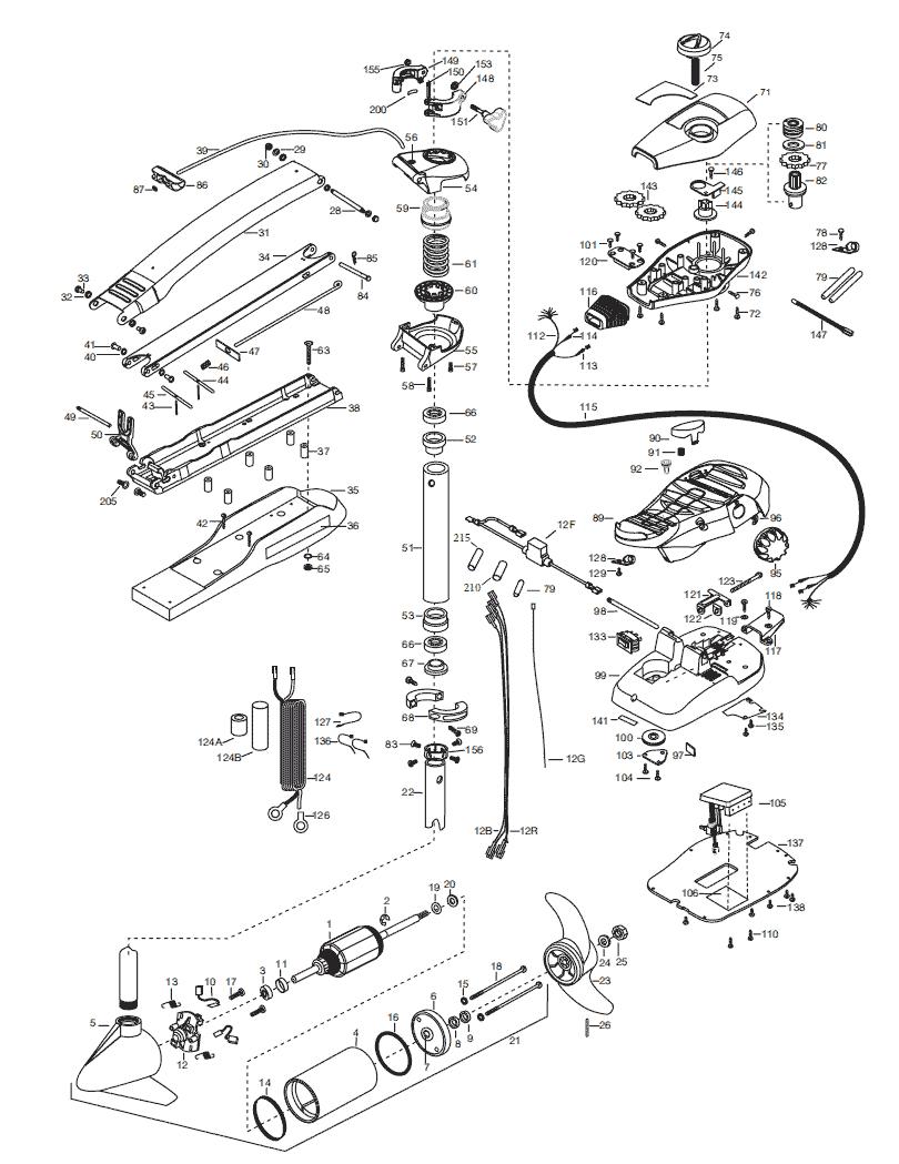 Minn Kota Max 70 (52 inch) Parts - 2015 from FISH307.com