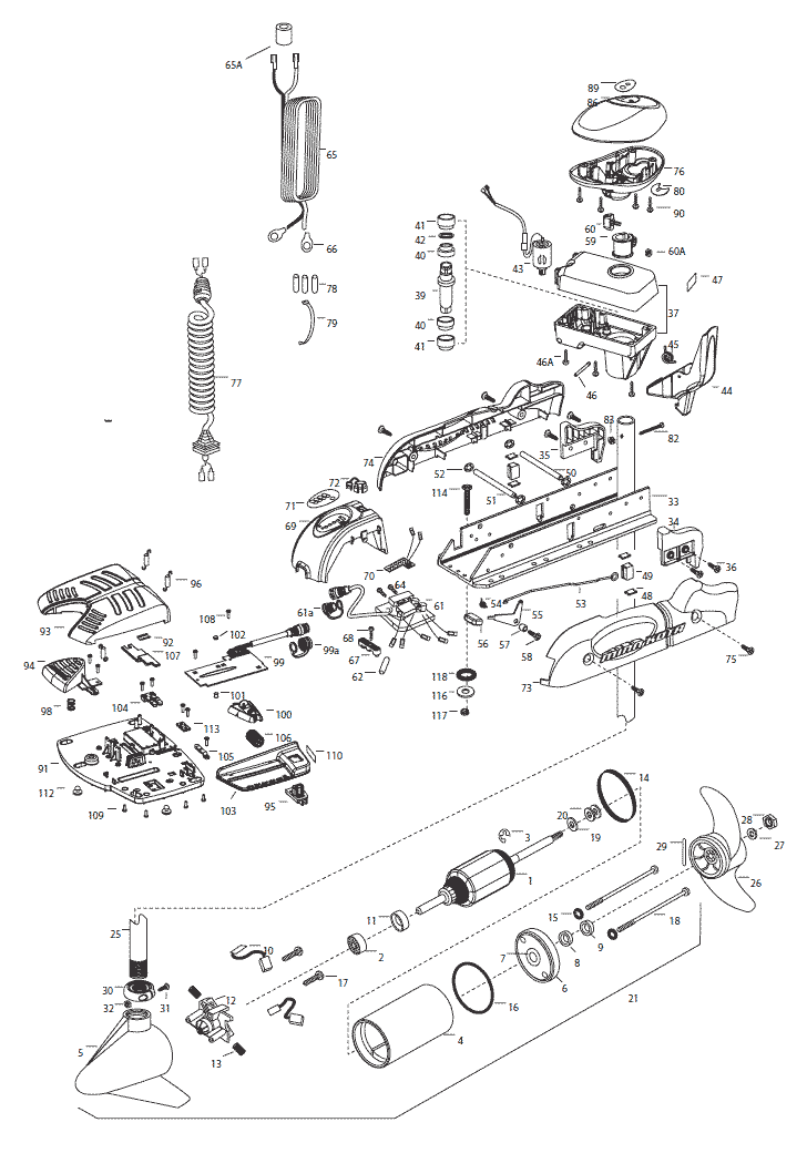Minn       Kota    PowerDrive V2 45 Parts  2015 from FISH307