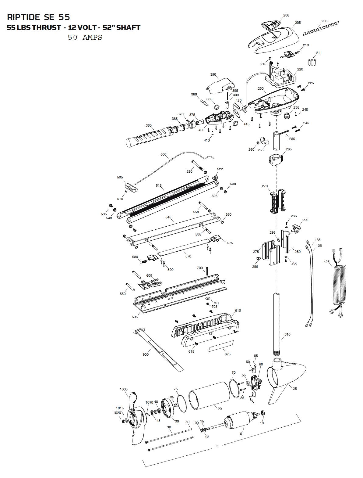 minn kota 24v wiring diagram plug minn kota riptide 55 se parts - 2015 from fish307.com minn kota 55 wiring diagram