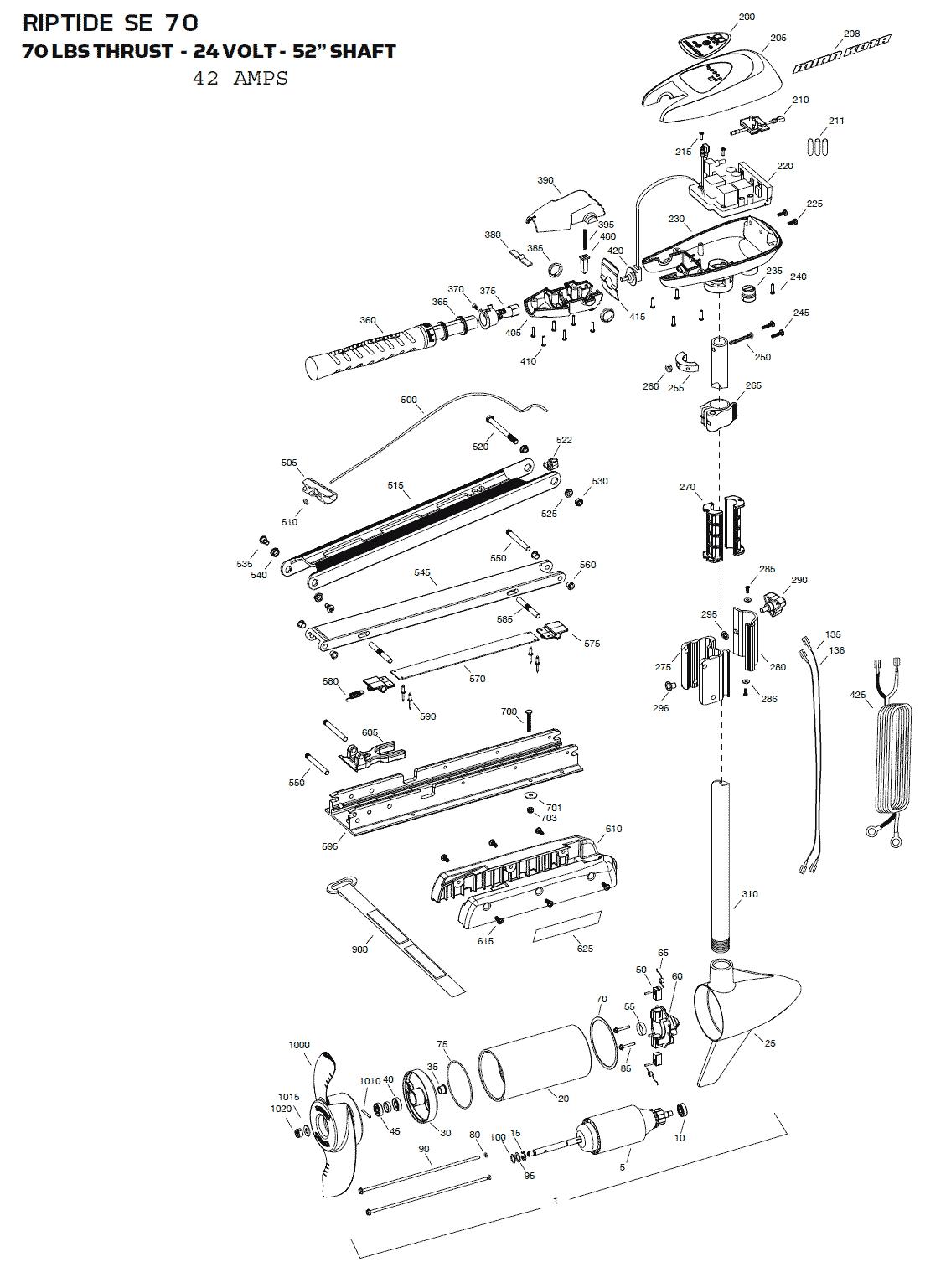 minn kota riptide 70 se parts