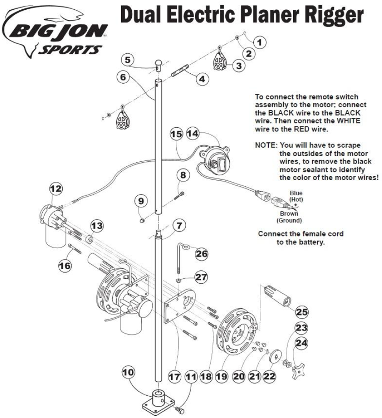 order big jon dual electric planer rigger parts online