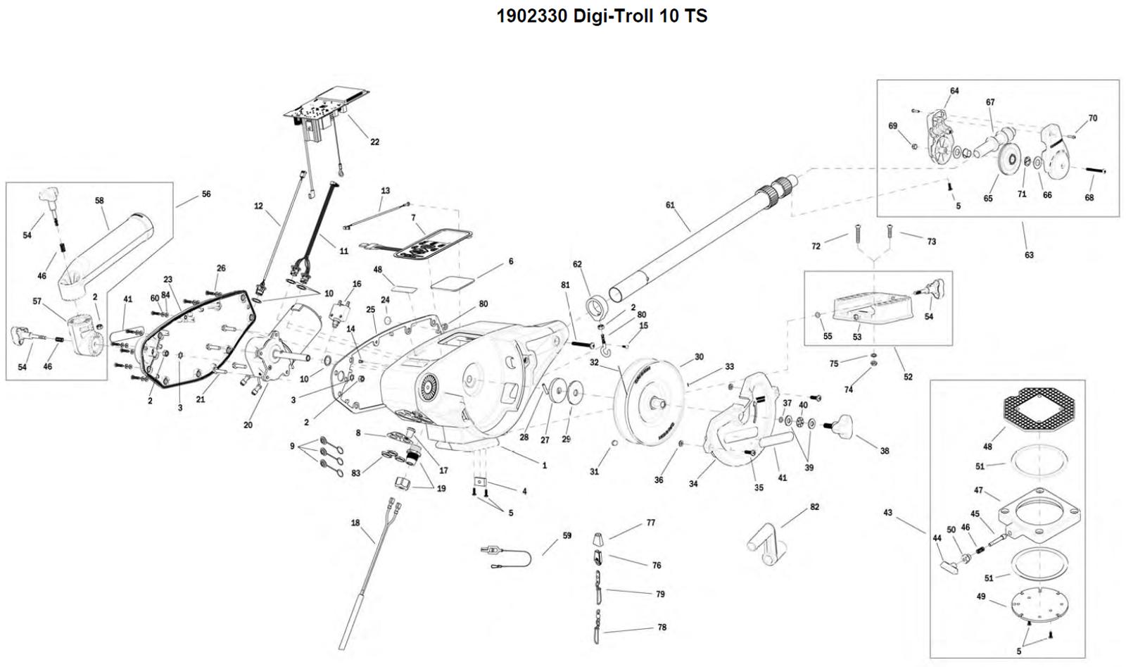 Cannon Downrigger Parts : Order cannon digi troll ts electric downrigger parts