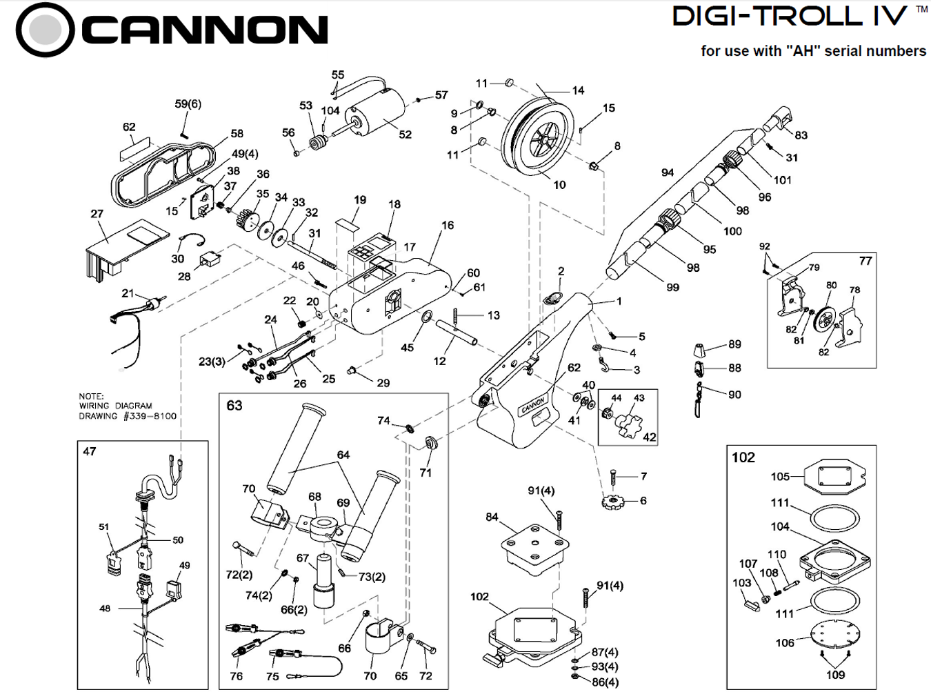 Cannon Downrigger Parts : Wiring diagram for scotty downrigger