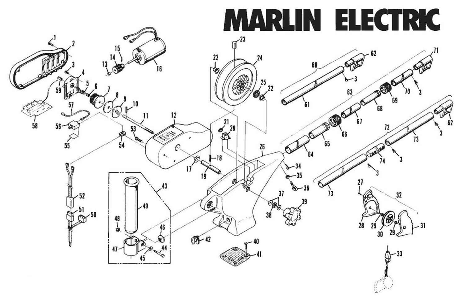 order cannon marlin electric downrigger parts from fish307 com