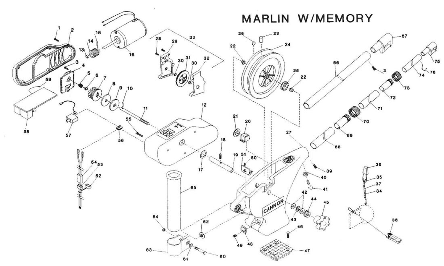 wiring diagram cannon downrigger