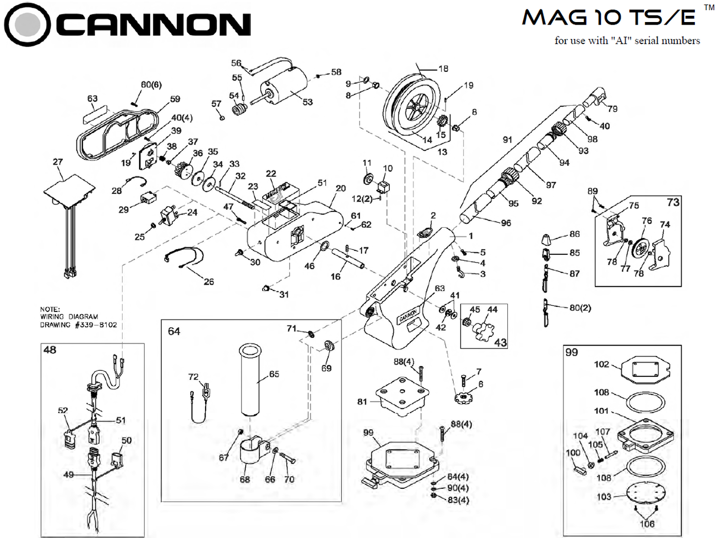 cannon downrigger parts