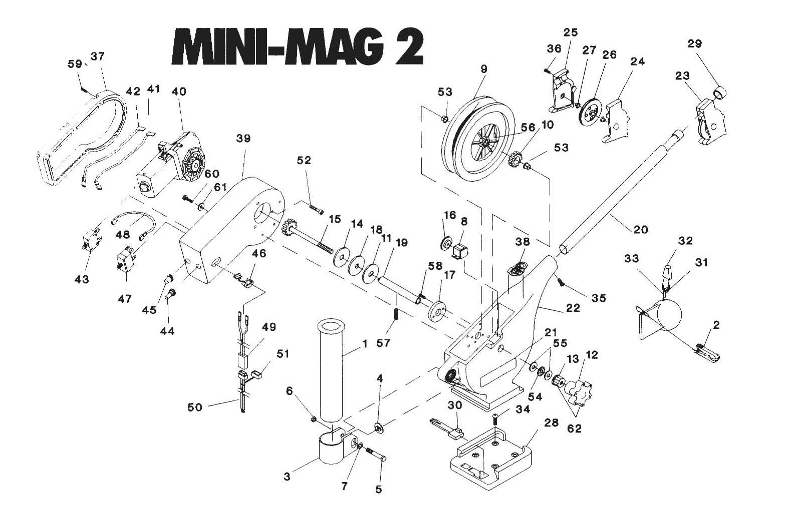 Cannon_Mini_Mag order cannon mini mag 2 electric downrigger parts from fish307 com scotty downrigger wiring diagram at metegol.co