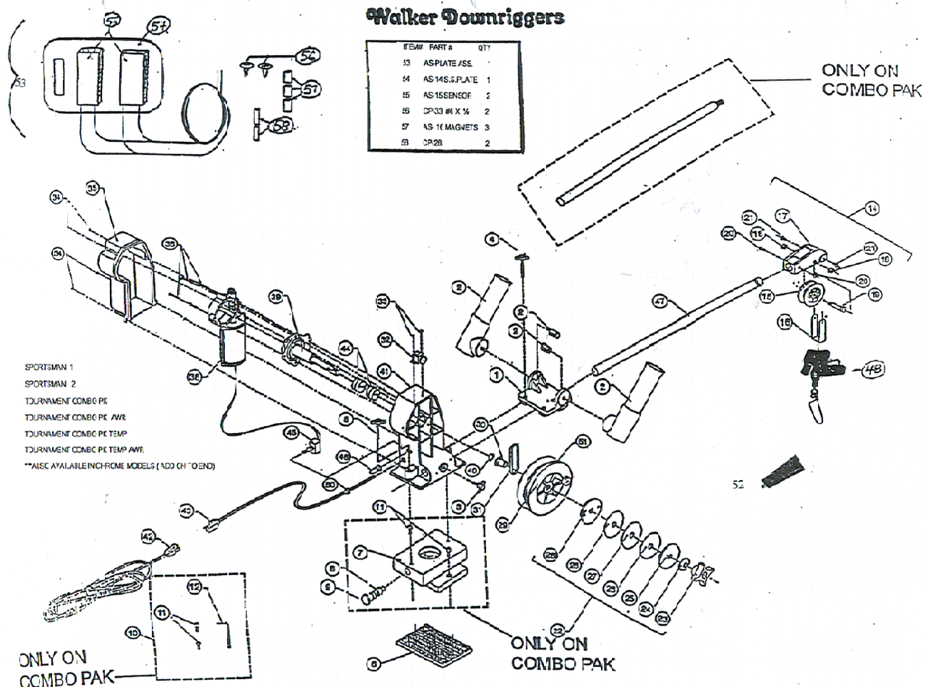 Walker_electric_downriggers order walker electric downrigger parts online from fish307 com scotty downrigger wiring diagram at metegol.co